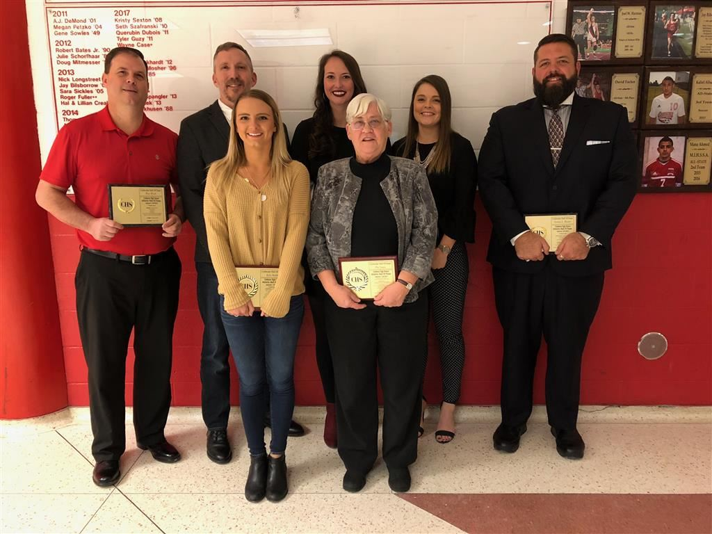 The combined 2018 and 2019 Coldwater High School Athletic Hall of Fame induction classes.