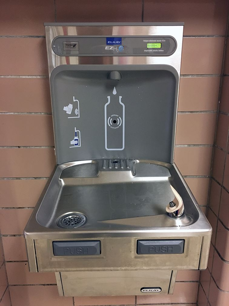 New drinking fountain at Coldwater High School
