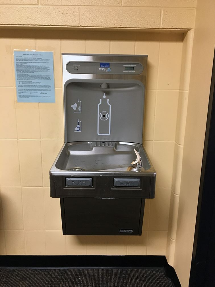 New drinking fountain at Lakeland Elementary School