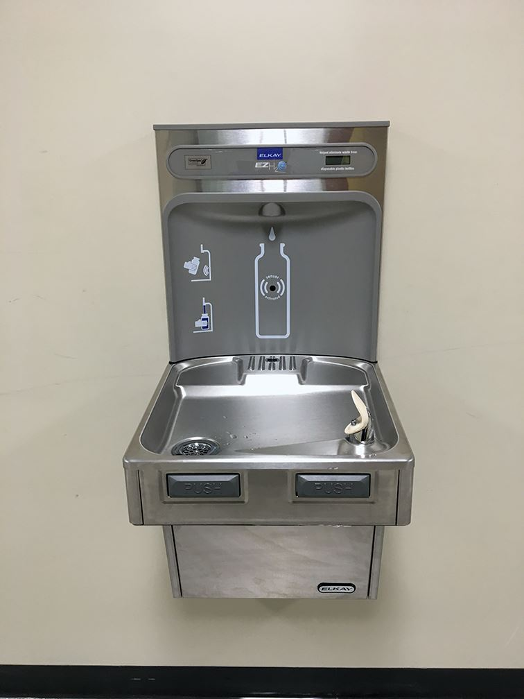 New drinking fountain at Legg Middle School