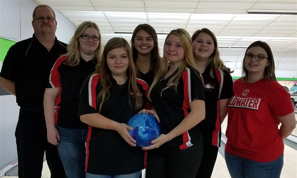 The 2018-19 Coldwater Cardinal JV girls bowling team. Photo credit: Rick Yearling