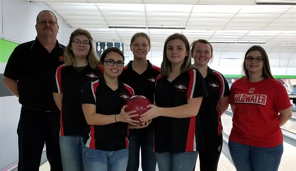 The 2018-19 Coldwater Cardinal varsity girls bowling team. Photo credit: Rick Yearling