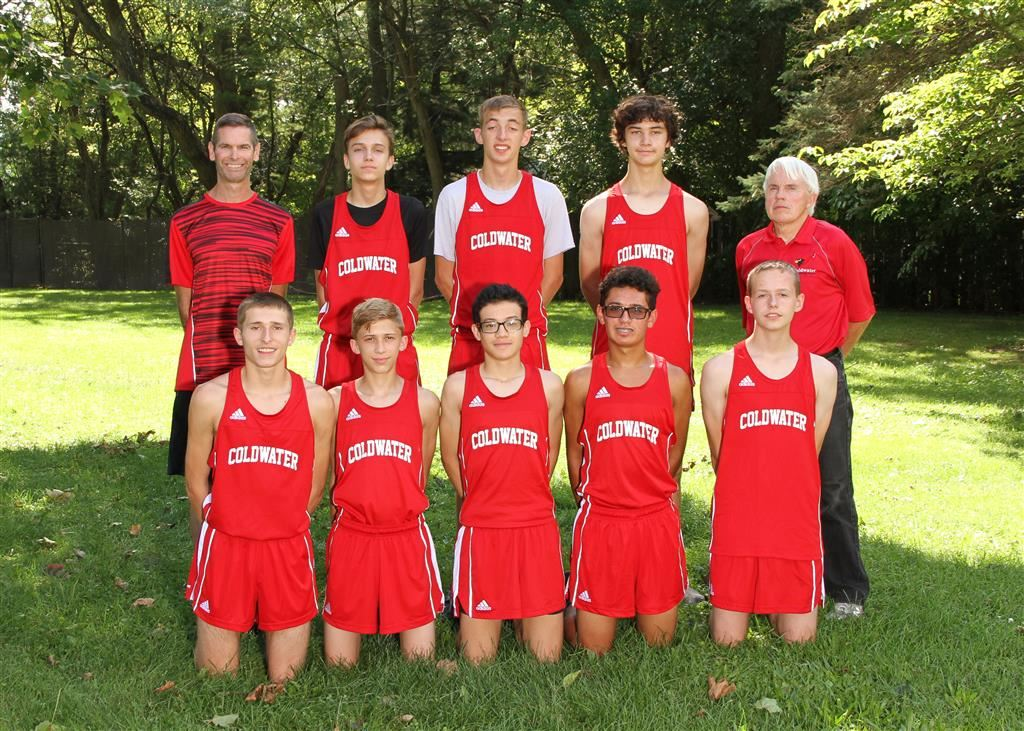 The 2018 Coldwater Cardinal boys cross country team. Photo credit: Prater Studios