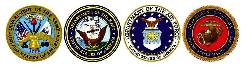 Seals of the Departments of the Army, Navy, Air Force, and Marine Corps